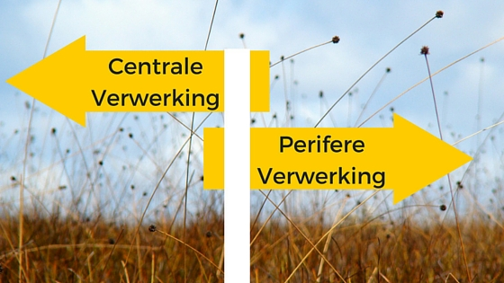 Informatieverwerking via de centrale of perifere route