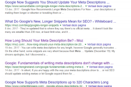 meta description korter